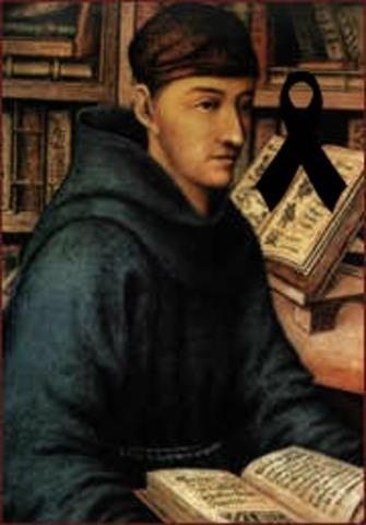 Muere Fray Bernardino de Sahagún