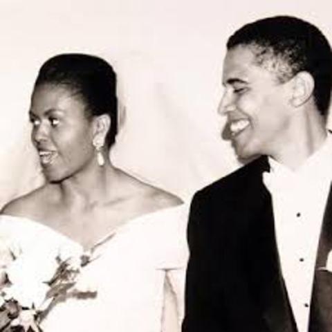 Son mariage avec Michelle Robinson