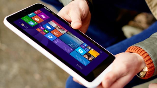 Une tablette exécutant Windows 8.1