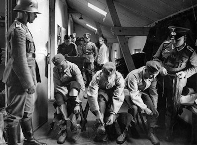 Conscription begins in Germany