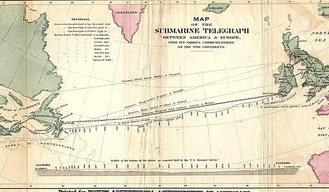 Primer cable telegráfico