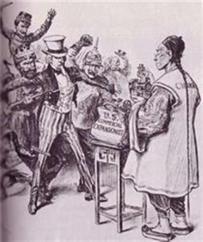 1899 AD : Open door policy