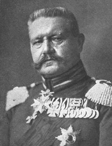 President of Germany, Paul von Hindenburg dies