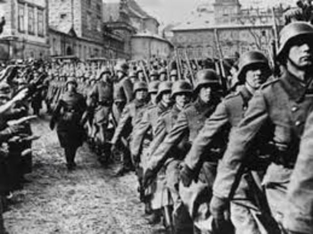 Germany invades Czechslovakia