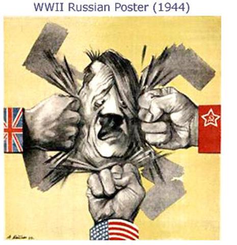 Russia retaliates to the German invaders