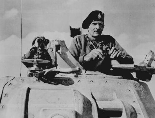 British troops defeat the Germans and Italians at El Alamein in Egypt