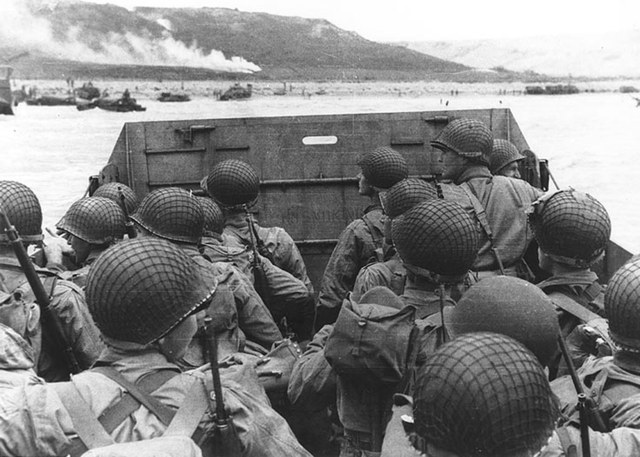 British and US troops successfully land on the Normandy beaches of France (D-Day)