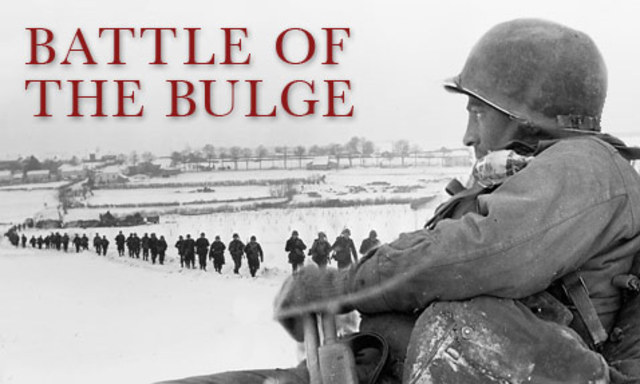 The Germans launch a final offensive in the west, known as the Battle of the Bulge