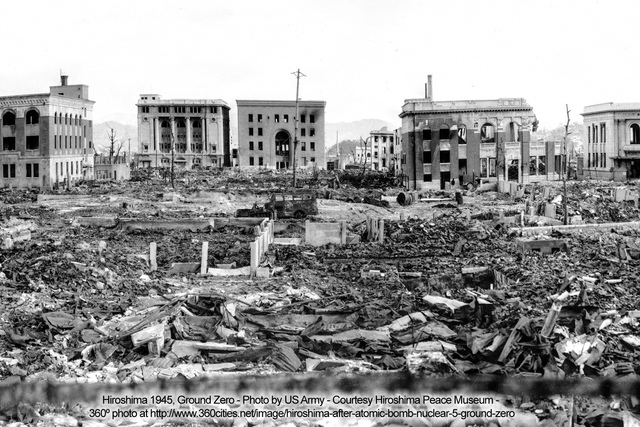 The United States drops an atomic bomb on Hiroshima