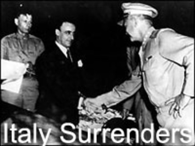 Italy surrenders to the Allies