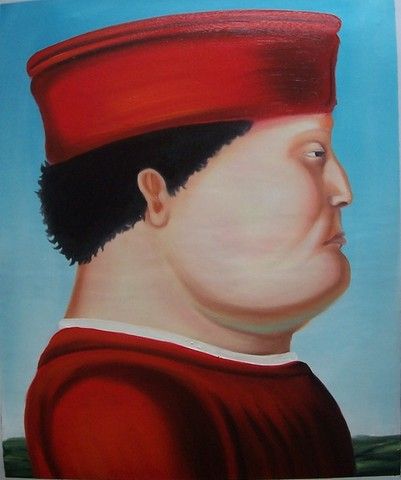 Fernando Botero - D'après Piero della Francesca