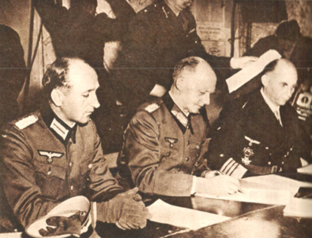 Germany surrenders unconditionally