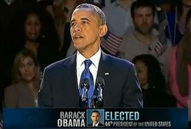 B. Obama é reeleito presidente dos EUA