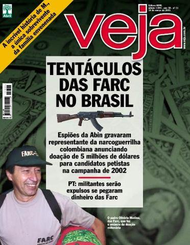Wikileaks: Para EUA, VEJA fabricou proximidade do PT com as FARC por objetivos políticos