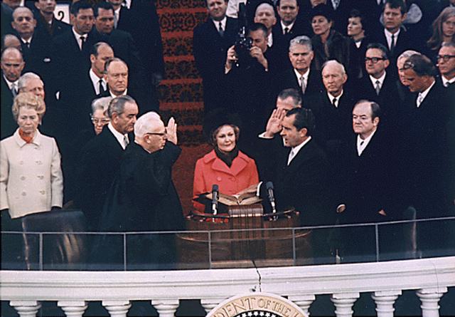 Nixon is inaugurated