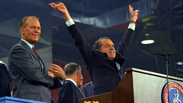 Nixon vows to cut wasteful government spending in his nomination acceptance speech