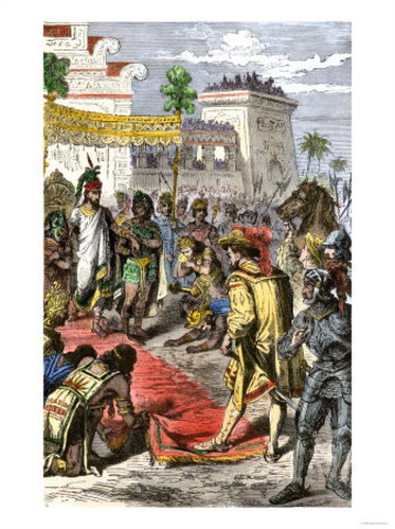 Hernan Cortes conquers the Aztecs