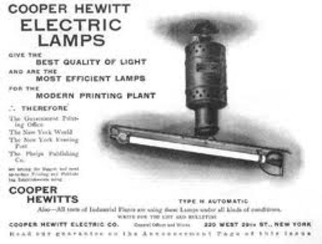 La lampara de vapor de mercurio