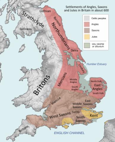 Político: Invasión Sajona a Inglaterra