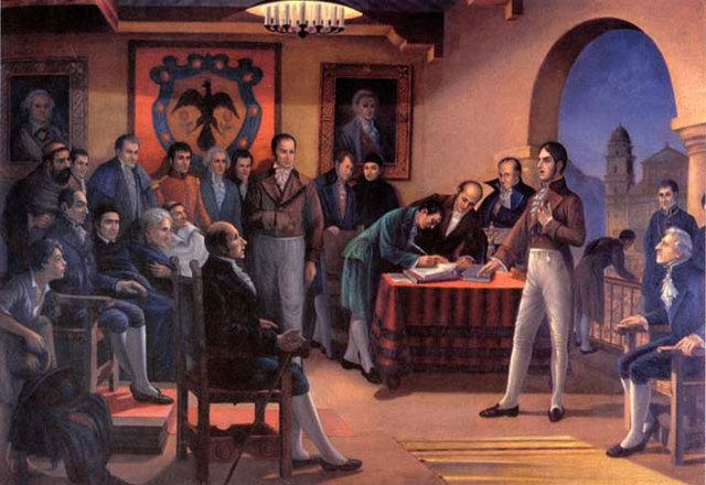 Política. Independencia de la mayoría de colonias latinoamericanas