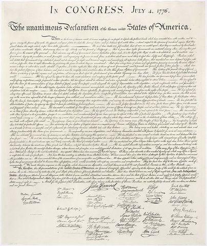 Política: Declaración de Independencia de los estados unidos