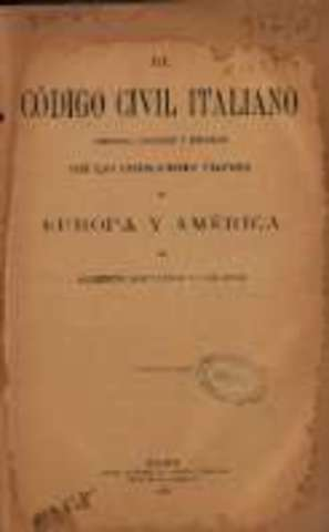 Derecho Comercial: Código Civil italiano