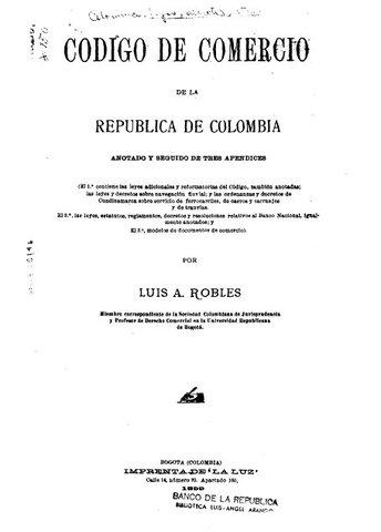 Derecho: Código de Comercio Colombia