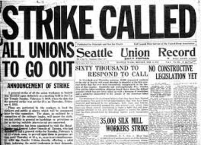 Strike occurs
