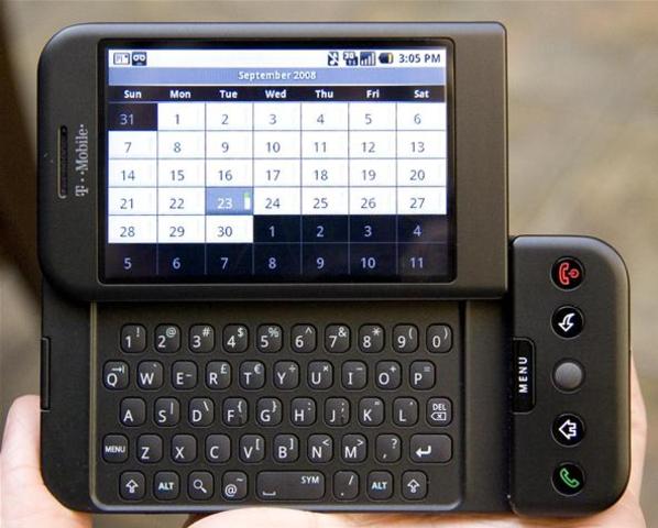 HTC Dream slider