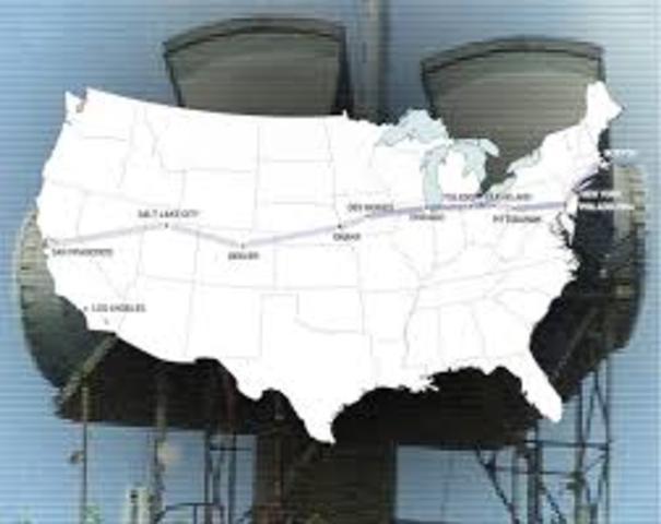 Coast-to-coast network TV is a reality via telephone company coaxial cables.