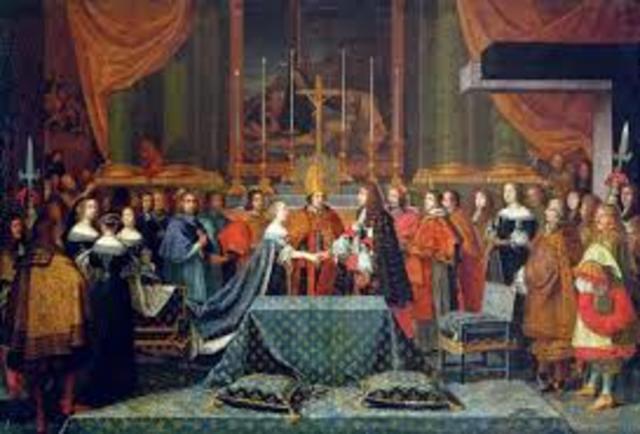 Marraige of LOUIS XIV