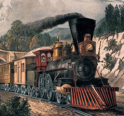 Se logra que una locomotora de vapor corra sobre rieles.