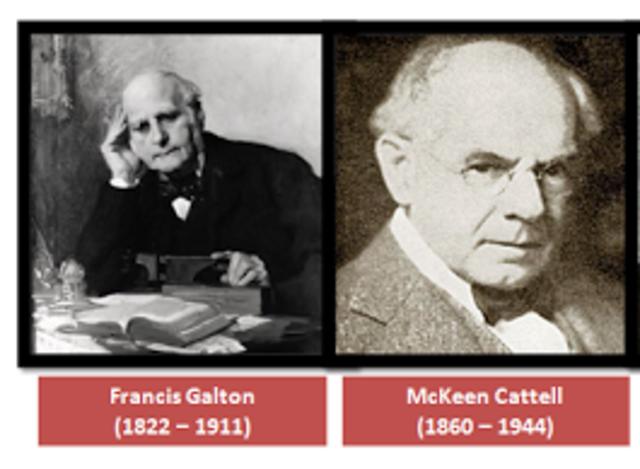 J.M. CATELL y F. GALTON, E.U. (DIFERENCIAS INDIVIDUALES)