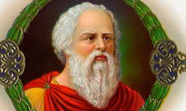 El filosofo griego Sócrates (470 a.C. –399 a.C.),