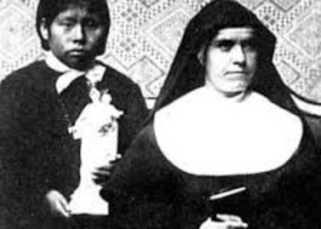 Parte desde C. Patagones con la indiecita Luisa Peña para visitar a Don Bosco antes de su muerte.