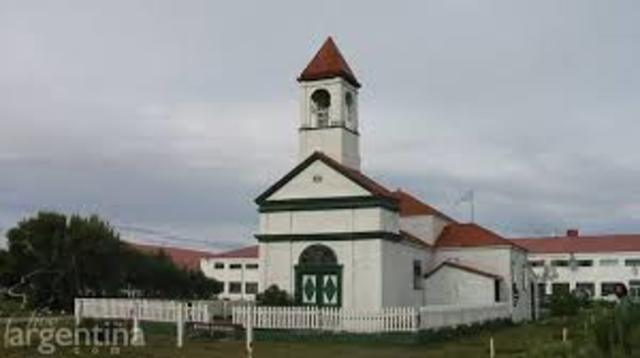 Visita de la Madre Luisa Vaschetti a las misiones de Tierra del Fuego.