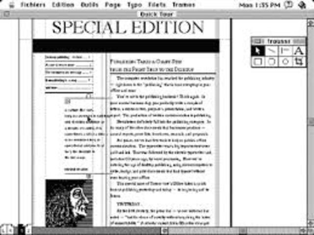 Aldus introduce el PageMaker para al Macintosh
