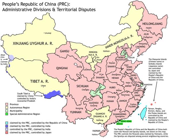 Separation of China