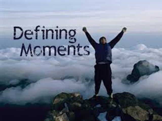 3 Defining moments
