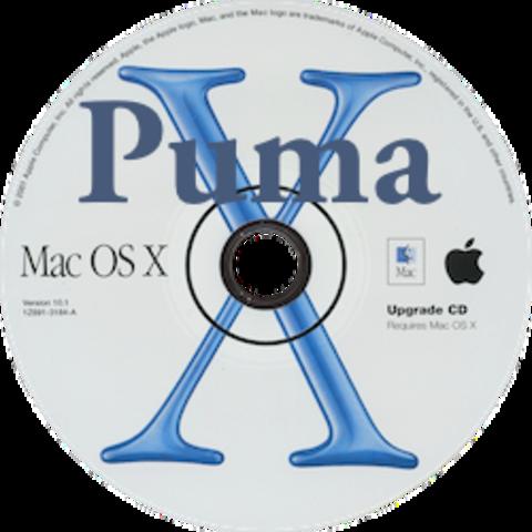 """Mac OS X 10.1 """"Puma"""""""