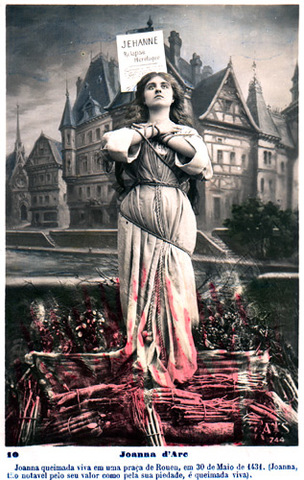 Joan of Arc burned at the stake