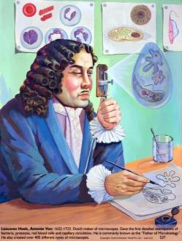 Antoni von Leewenhoek descubre las bacterias.