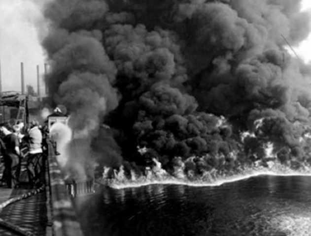 Cuyahoga River in Ohio caught fire