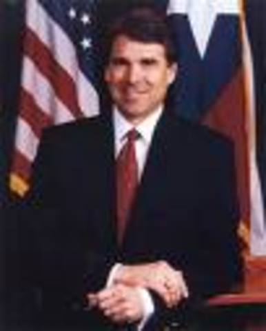 Rick Perry becomes Governor