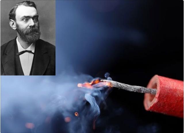 Nobel inventa la dinamita.