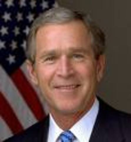 George W. Bush becomes President of the U.S.
