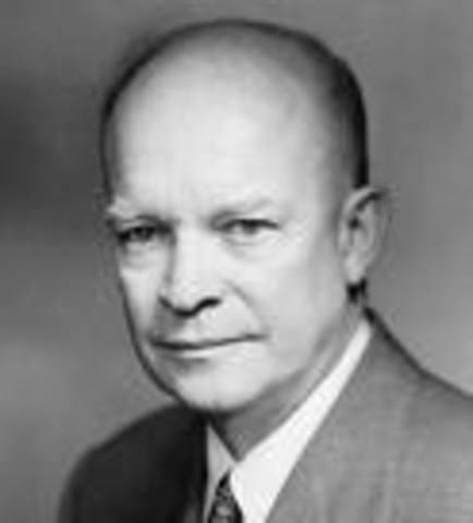 Dwigh D. Eisenhower becomes President.