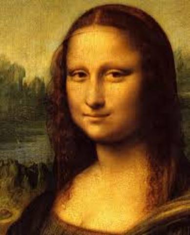 "Da Vinci paints the ""Mona Lisa"""