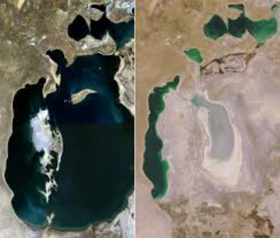 Shrinking of the Aral Sea
