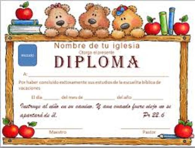 Mi diploma de 2do lugar